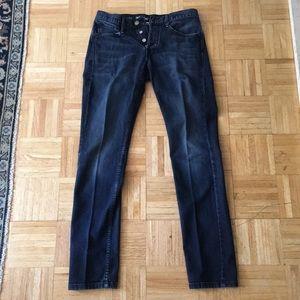 Men's Earnest Sewn Dark Blue Jeans